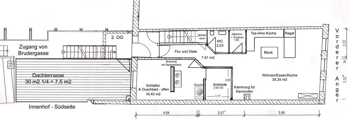 Offene Dusche Im Schlafzimmer : mit Dachterrassse im Zentrum von Landsberg von Toni te Best Immobilien